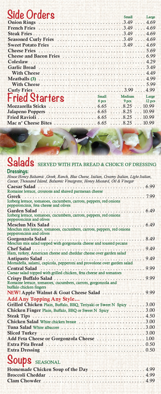 Sides, Soups and Salads